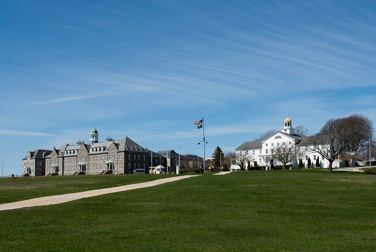 U.S. Naval College in the background with the museum.