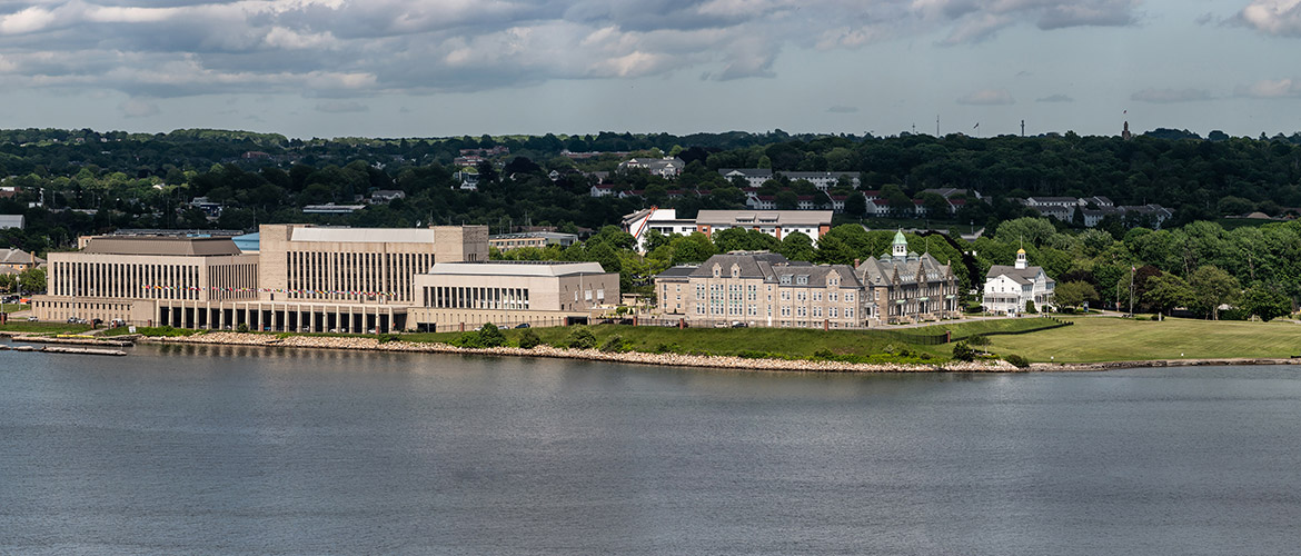 Aerial shot of U.S. Naval War College
