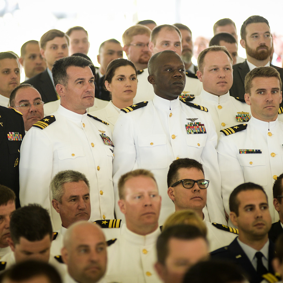 One thousand, six hundred and six joint military, civilian and international students graduated from U.S. Naval War College (NWC) during a ceremony held at NWC's Dewey Field in Newport, Rhode Island.