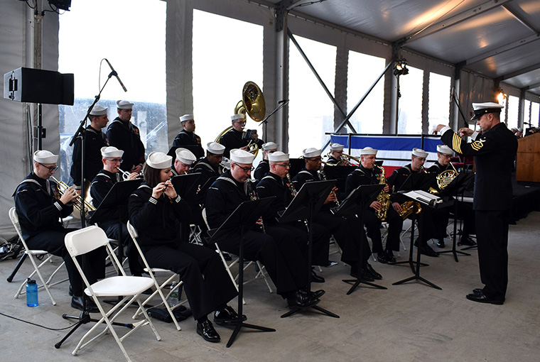 Navy Band Northeast's Ceremonial Band Ceremonial Band providing musical support as the USS SOUTH DAKOTA (SSN 790) was ushered into the chronicles of Naval Service.