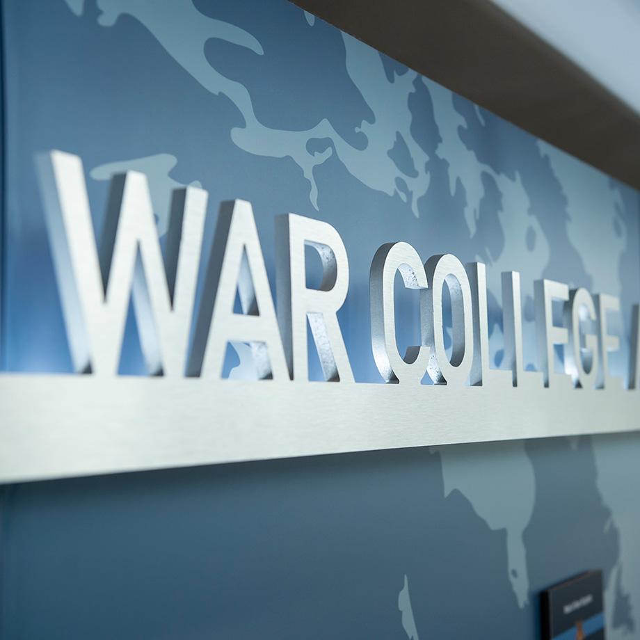 U.S. Naval War College banner.
