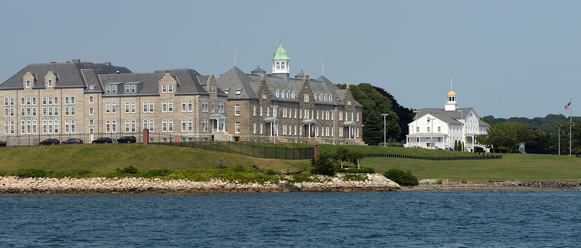 Naval War College (NWC) with museum in the background