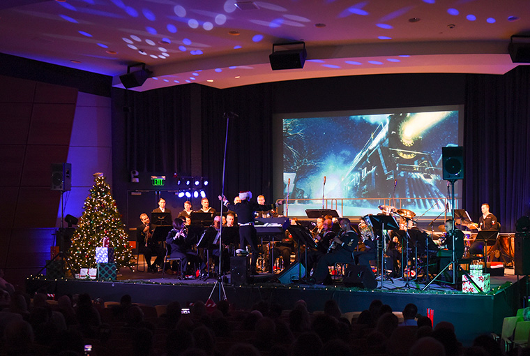 Navy Band Northeast treated the community to a holiday concert held in U.S. Naval War College's Spruance Auditorium.