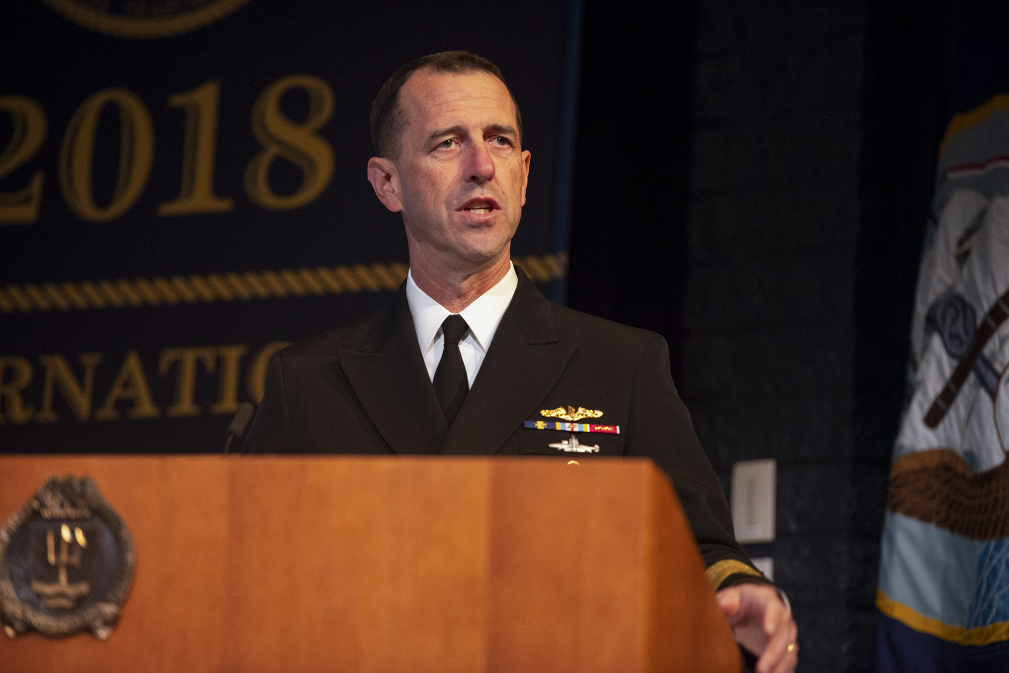 Adm John M. Richardson delivers opening remarks