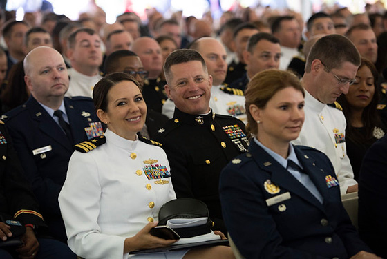U.S. Naval War College hosted its 2019 commencement ceremony on Dewey Field in Newport, R.I., June 14.