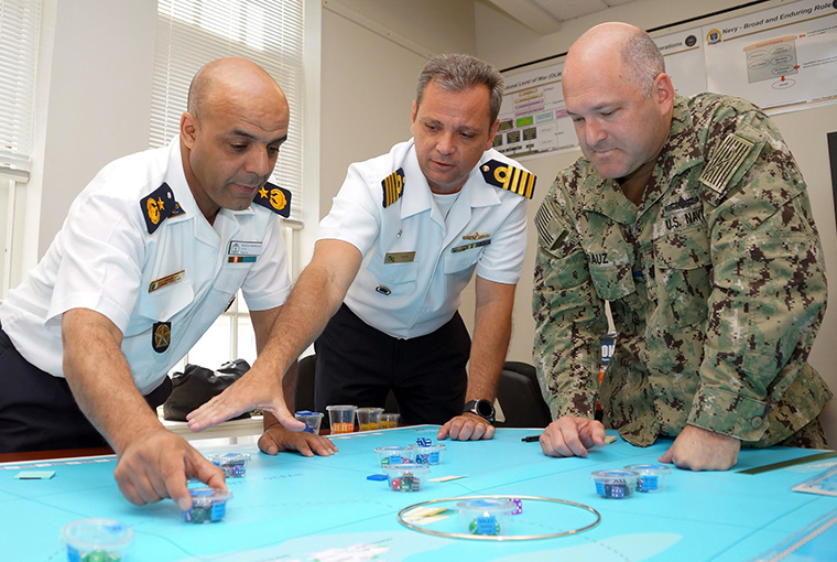 U.S. Naval War College held its second International Wargaming Introductory Course in June, offering an introduction for visiting foreign officers on how an American military war game is built.