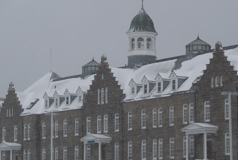 First snow of the season at the U.S. Naval War College, Dec. 3, 2019