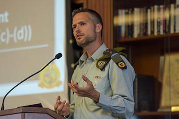Eran Shamir-Borer, international law department, Israeli Defense Forces.