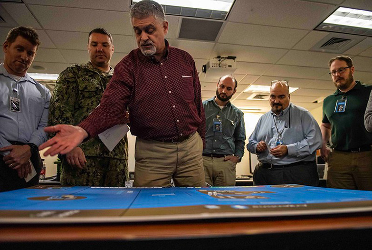 Members of various commands and U.S. government agencies participate in the annual War-Gaming Fundamentals course held at the U.S. Naval War College Jan. 15.