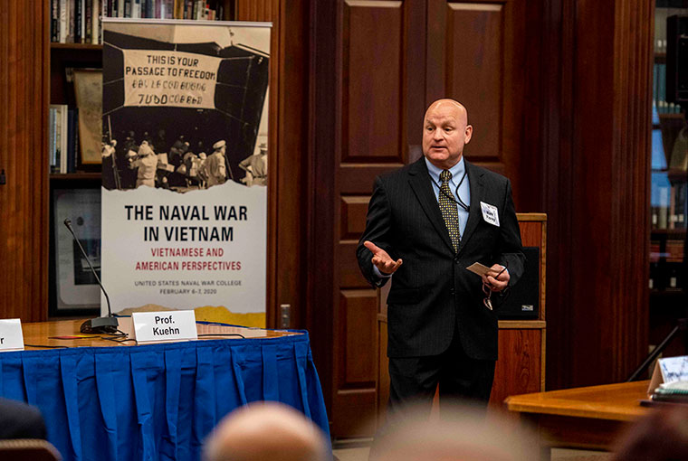 Mark Fiorey, deputy director of the John B. Hattendorf Center for Maritime Historical Research.
