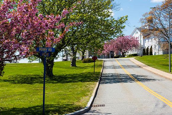 Street view of the U.S. Naval War College