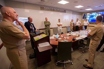 Joint Force Command Norfolk, in partnership with U.S. 2nd Fleet, conducts the Fourth Battle of the Atlantic tabletop exercise (TTX) virtually for leaders from multinational commands to discuss the future warfighting strategy in the Atlantic.