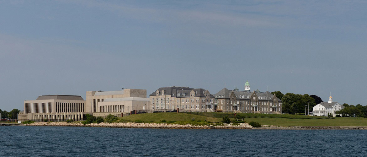 U.S. Naval War College (NWC) on Coasters Harbor Island, Newport, Rhode Island. Established in 1884, the NWC is the oldest institution of its kind in the world.