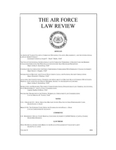 Air Force Law Review cover image