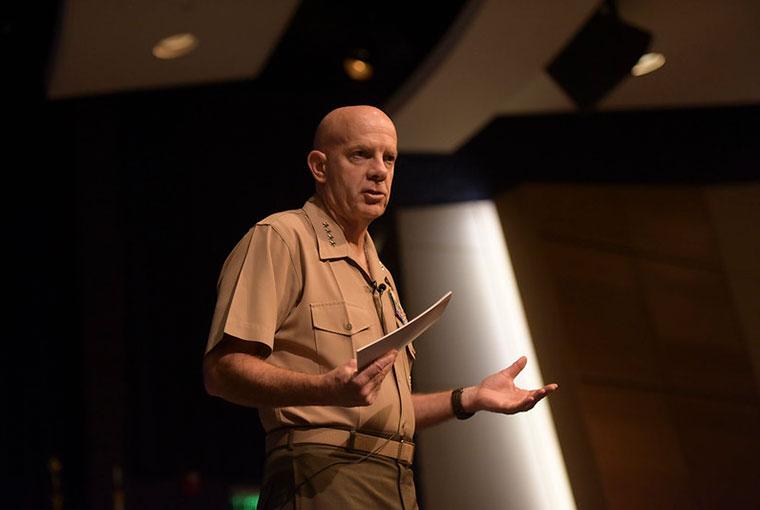 Gen. David H. Berger addresses U.S. Naval War College