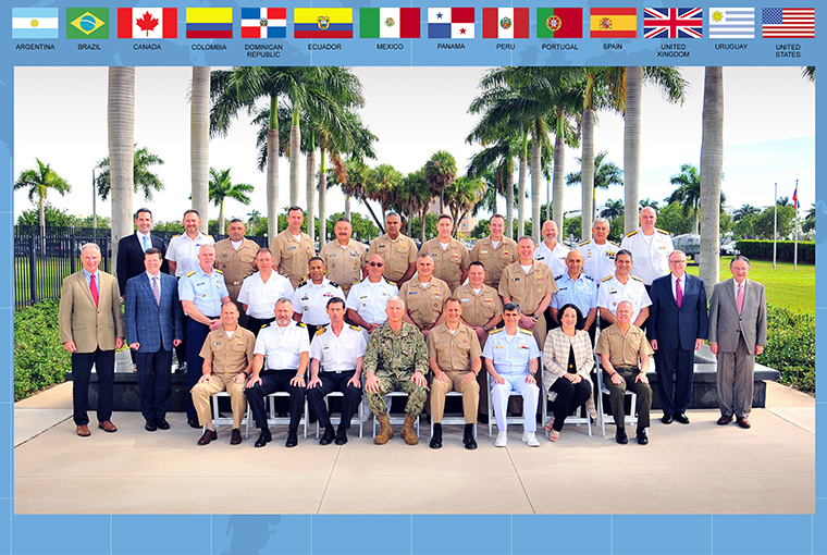 Senior officers from 13 partner nations and the U.S. came together in Miami to strengthen partnerships through executive education provided by the U.S. Naval War College.