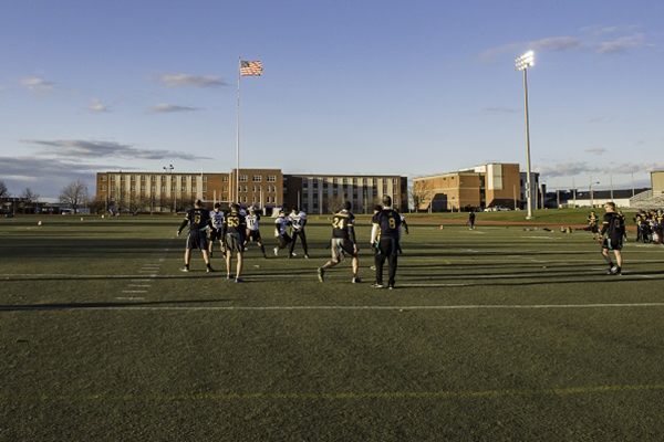 Army/Navy Flag Football game