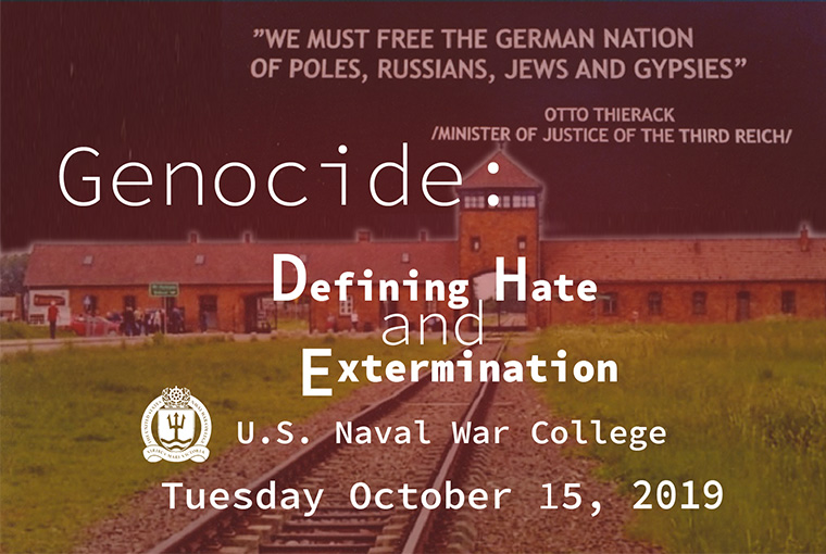 Genocide: Defining Hate and Extermination event banner