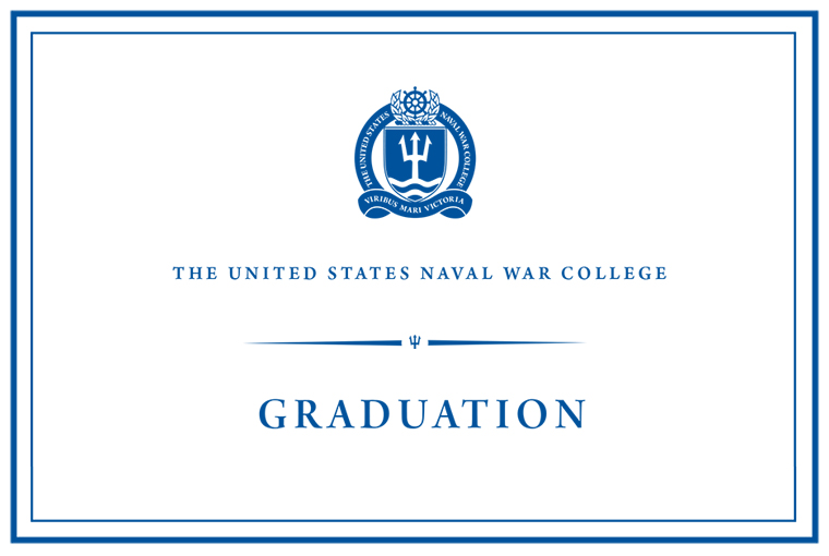 Web banner for graduation at U.S. Naval War College