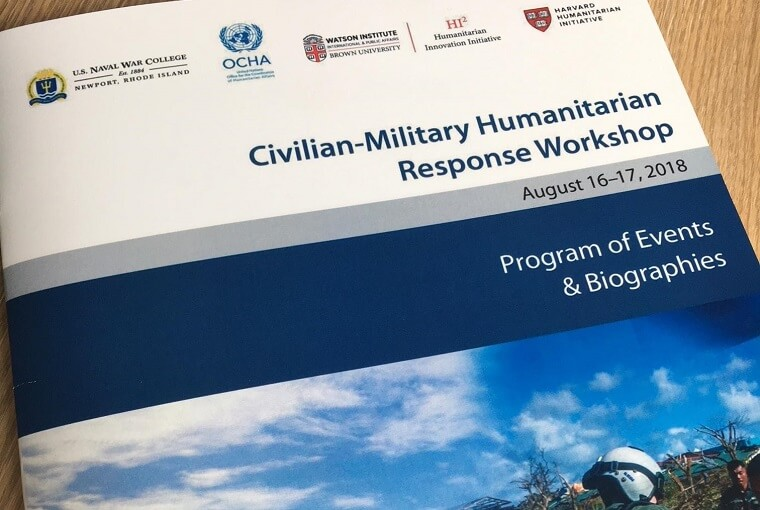 Civilian-Military Humanitarian Response Workshop program of events & biographies booklet