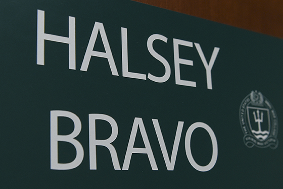 Halsey Bravo door sign