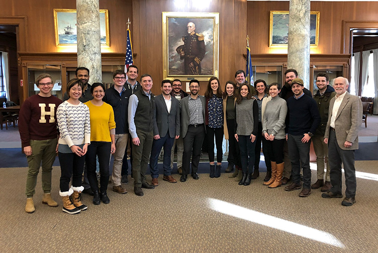 U.S. Naval War College hosted distinguished visitors from Harvard Medical School's Program in Global Surgery and Social Change for a disaster-response simulation on Jan. 31.
