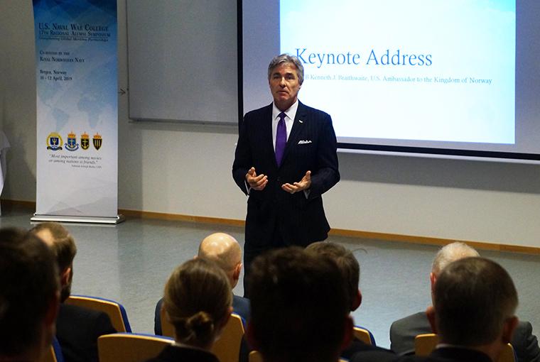 Kenneth Braithwaite, U.S. ambassador to the Kingdom of Norway provides keynote remarks