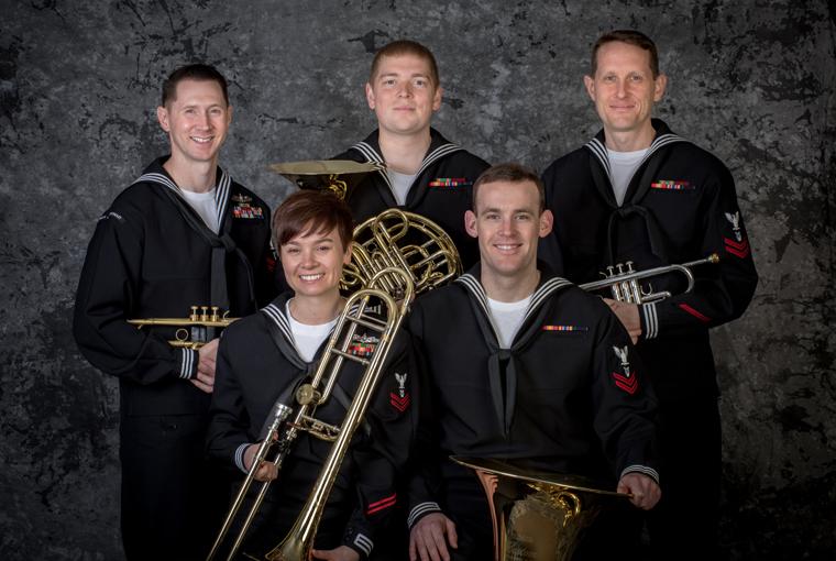 Photo of Navy Band Northeast's brass quintet