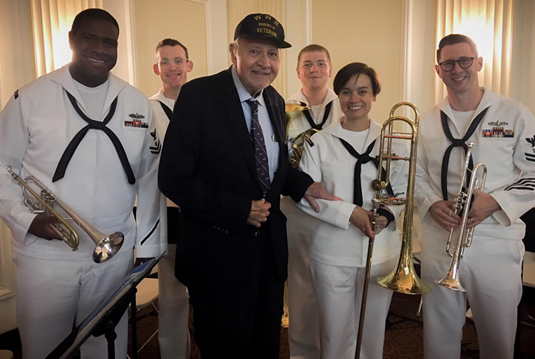Navy Band Northeast group with Mr. Middendorf