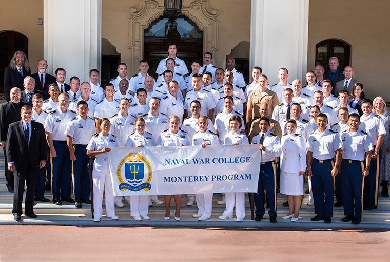 Students and faculty of the Naval War College Monterey
