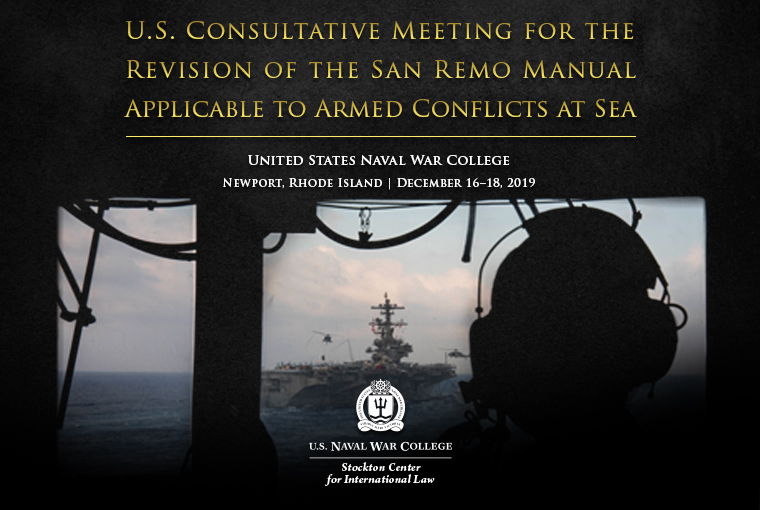 San Remo Manual Applicable to Armed Conflicts at Sea website banner