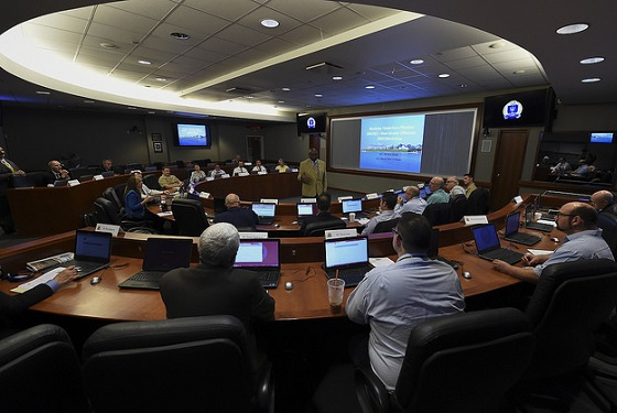 Members from the Undersea Warfare Systems community gather for a Naval War College (NWC) Gravely Group workshop to assess concepts that will continue to help the United States maintain undersea dominance.