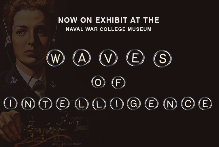 Museum banner for new exhibit W.A.V.E.S. of Combat Intelligence