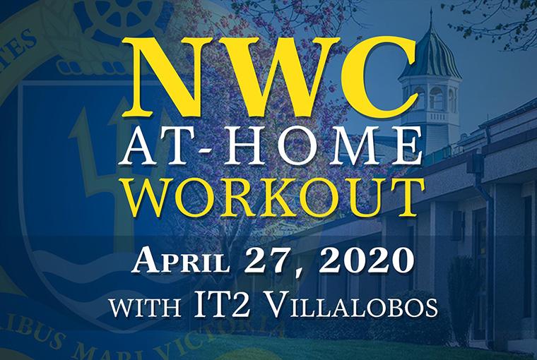 U.S. Naval War College workout banner for April 27, 2020