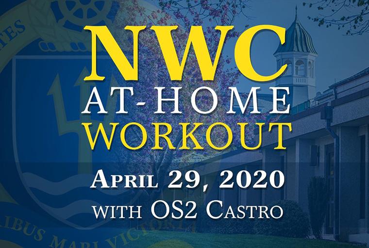 U.S. Naval War College workout banner for April 29, 2020