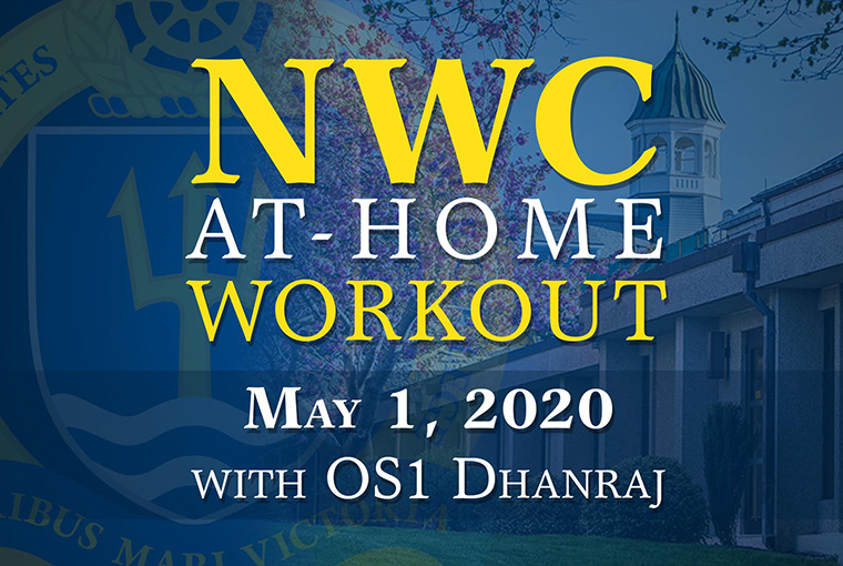 U.S. Naval War College workout banner for May 1, 2020