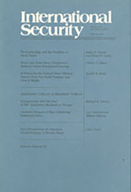 International Security Spring 2004 cover image