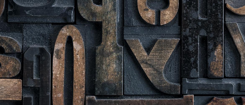 Wooden letterpress letters