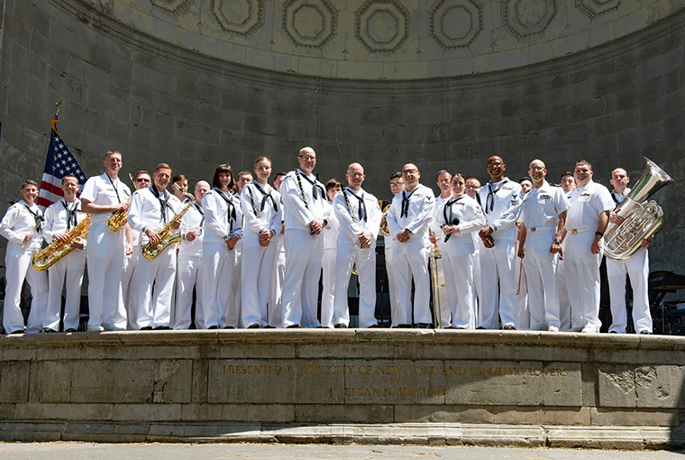 Navy Band Northeast at the Naumburg Bandshell in Central Park, New York.