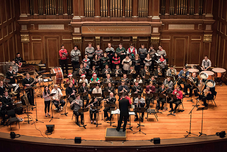 Navy Band Northeast at New England Conservatory during a past year's performance.
