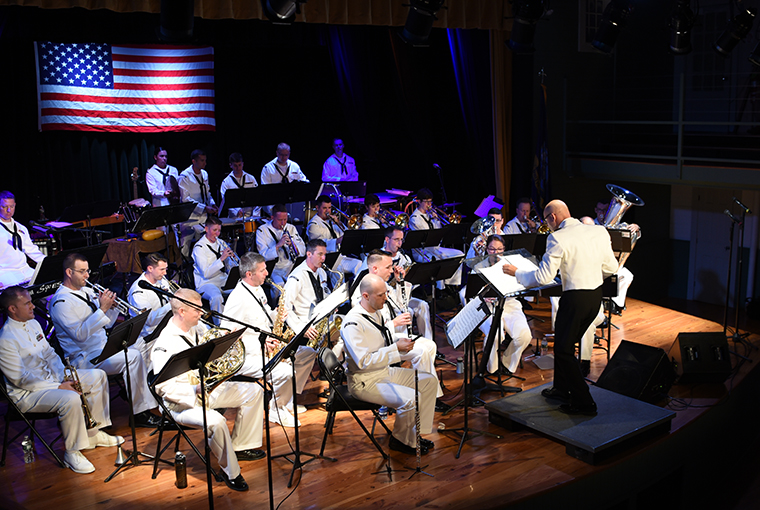 Navy Band Northeast's Pops Ensemble playing a concert