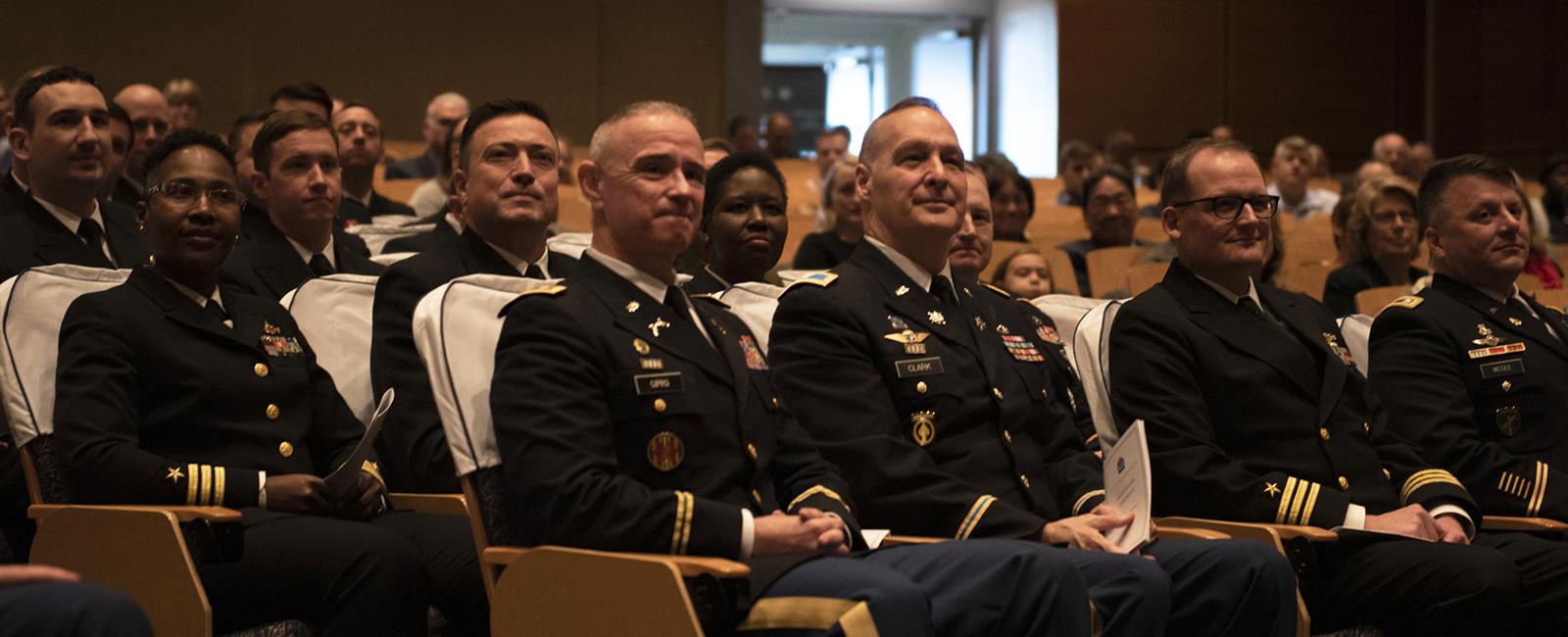 U.S. Naval War College students at their graduation.