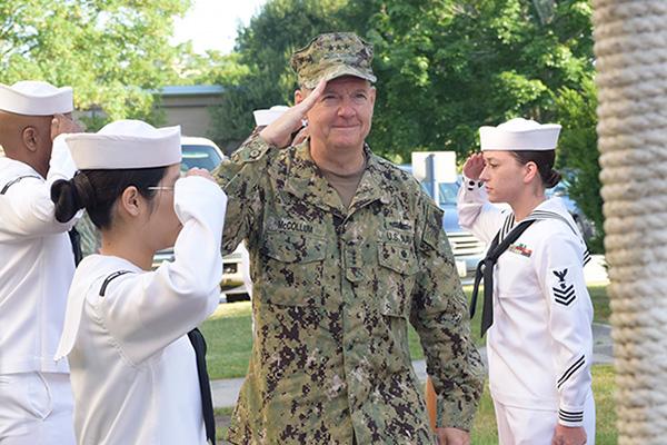Military standing salute