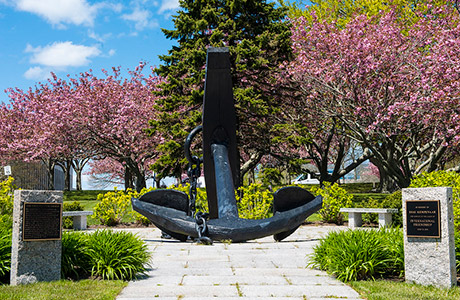 Iconic anchor at the U.S. Naval War College