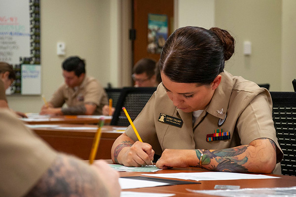 Gas Turbine Systems Technician (Mechanical) 2nd Class Samantha Trump, from Reading, Pa., assigned to the Navy Recruiting Station Reading, Navy Recruiting District Philadelphia.