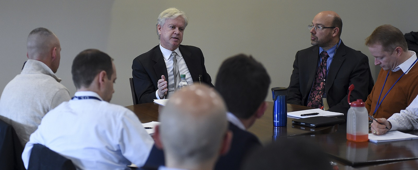 U.S. Naval War College (NWC) students and staff had the opportunity to observe how the world of national security looks from the boardroom when Philip O'Neill, one of the country's leading international business arbiters (and the former Nomura Lecturer in Law on International Arbitration at Harvard Law School) spoke on the intersection of international business and national security during a lecture of opportunity at NWC in Newport, Rhode Island.