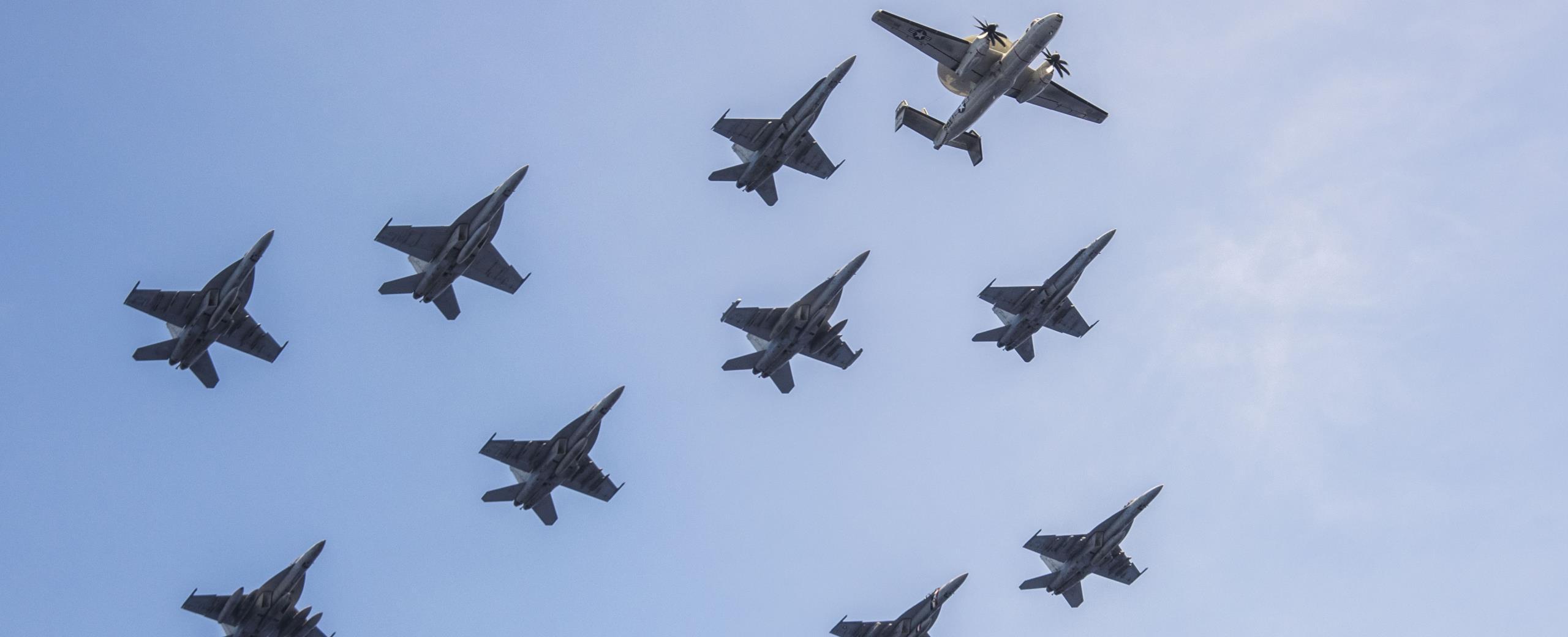 Jets flying